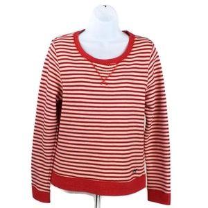 Levis Red White Stripe Sweatshirt Womens Large